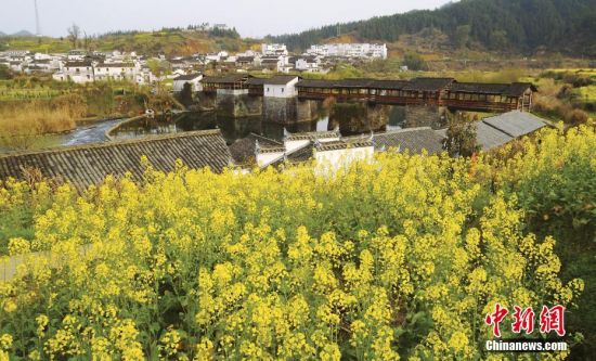 江西省上饶婺源,风雨飘摇800年,彩虹桥依然挺立.