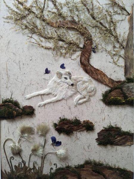 该校选送的压花作品《河畔的守候》荣获特选奖,是江西唯一获奖作品.图片