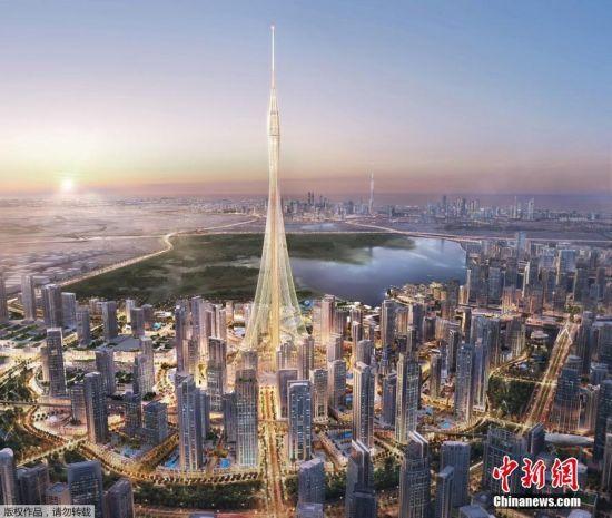 """未来""""世界最高塔""""在迪拜举行奠基仪式"""
